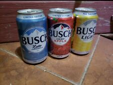 Triple Pack Lot of 3 Limited Edition Empty Busch Latte Light Apple Corn Can Beer