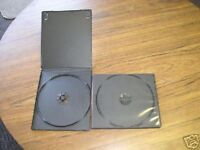 100 NEW SINGLE 7MM SLIM POLY CD/DVD CASES WITH SLEEVE, BLACK PSC8