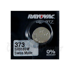 1 x Rayovac 373 battery Silver Oxide 1.55V SR916SW SR68 V373 Watches Swiss