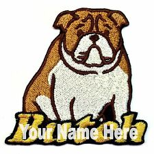 Bulldog Custom Iron-on Patch With Name Personalized Free