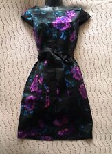 (#2175) HOBBS NW3 Lovely Floral Print Silk Occasion Dress Size 6 UK