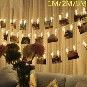 LED Hanging Photo Clip Fairy String Light Wedding Birthday Party Christmas Decor