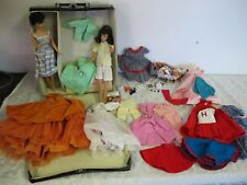 VINTAGE BARBIE LOT  (2) PONY TAIL &  BUBBLE CUT CASE CLOTHES SHOES