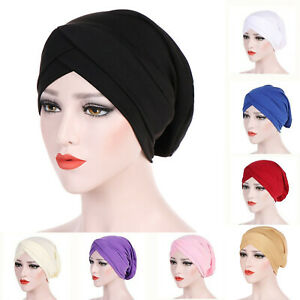 Bonnet Criss Cross Tube Hijab Cotton Cap Head Under scarf Bone Turban Headwraps