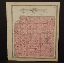 Wisconsin Waukesha County Map Vernon Township  1914 L12#67