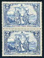 DR 1900, MiNr. 64 I + 64 II, Paar, postfrisch, FA Jäschke-Lantelme, Mi. 1800,-