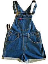 WRANGLER Women's Short Overalls Shortalls Blue Haze Size M LDSASML