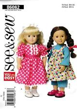 BUTTERICK SEWING PATTERN SEE & SEW CLOTHES FOR 18 INCH DOLL  #B6082