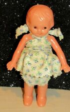 """Vintage Irwin Hard Plastic Baby Doll w/ Jointed Arms- DRESSED - 4 1/2"""" VGC"""