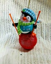 2012 Collectible Michaels Craft Store Knitting Penguin Christmas Tree Ornament