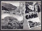 NAPOLI CAPRI 38 SALUTI da... VEDUTINE Cartolina FOTOGRAFICA viaggiata anni '50