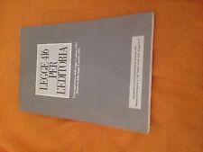 LEGGE 416 PER L'EDITORIA ANNO 1981 BUONO/OTTIMO!!AGGIORNATA AL 1987
