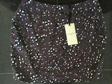NWT Twenty8Twelve New & Genuine Ladies Grey 100% Silk Short Skirt UK Size 12
