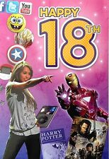 Happy 18th Birthday Gift & Greeting Card with Compilation Music CD and Download