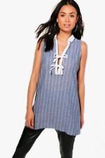 Camicia da donna a righe senza maniche