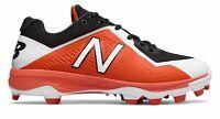 New Balance Low-Cut 4040V4 Tpu Baseball Cleat Mens Shoes Black With Orange
