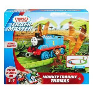 Mattel Thomas Trackmaster Train Set Monkey Trouble Thomas - Includes Accessories