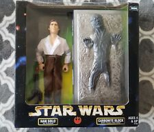"""Kenner - Star Wars Action Collection HAN SOLO in CARBONITE BLOCK 12"""" Figure Set"""