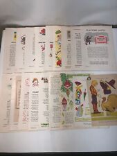 19 Paper Doll Centerfolds 15 Jack And Jill Magazine 1948-1961 4 Other Uncut