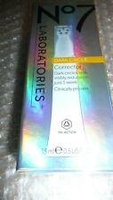 BOOTS NO7,DARK CIRCLE CORRECTOR,15 mls,MEDIUM/DARK SHEER, BOXED, FREE UK PP