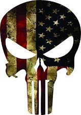 Punisher-American-Usa-Sni per-Color-Flag-Skull-Die-C ut-Vinyl-Decal-Sticker