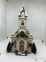 Department 56 Snow Village Our Lady of Grace Church Retired 805503- Preowned
