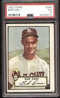 Bob Cain St. Louis Browns on a 1952 Hi number Topps Baseball Card #349 PSA 5