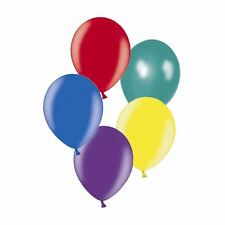 """50 x 11"""" Dark assorted Metallic Latex balloons for a party"""