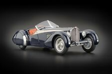 1938 BUGATTI 57 SC CORSICA ROADSTER WITH CROCODILE LEATHER INTERIOR 1/18 CMC 136