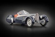 1938 BUGATTI 57 SC CORSICA ROADSTER W/CROCODILE LEATHER INTERIOR 1/18 BY CMC 136