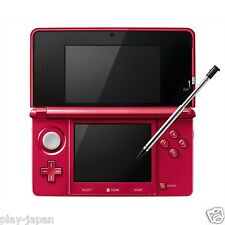 Exc Nintendo 3DS Metallic Red System Console Body Adapter Only Japan ver Japanes