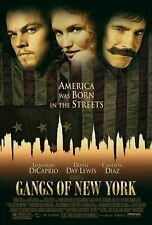 GANGS OF NEW YORK - D/S Original Movie Poster One Sheet Martin Scorsese DiCaprio