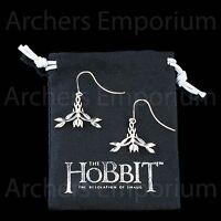 Hobbit, Exquisite Elven Earrings Sterling Silver. Weta. Tauriel, Galadriel. LotR