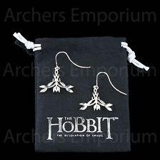 Exquisite Elven Earrings, Sterling Silver. Official. Hobbit, LotR, Tauriel. Weta