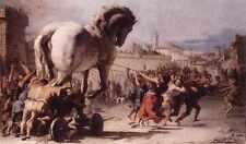 Tiepolo Giovanni Domenico la procesión del caballo de Troya en Troya A4 impresión