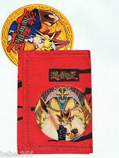 NEW Yu-Gi-Oh!    RED TRIFOLD WALLET  BOYS 3+ NETWORK  1996