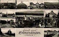 Emmendingen ~1960 Schwarzwald Mehrbildkarte Rathaus Marktplatz Kaiserstuhl Park