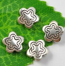 100pcs Tibetan Silver star loose charm Spacer Beads 6mm A0015