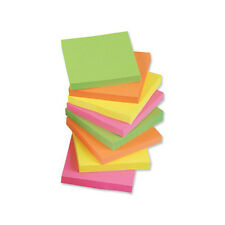 12 x Sticky Notes Remove Notes Neon 76 x 76mm 100 Sheets per Pad x 12 Pads
