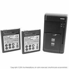 2 Replacement Batteries for Samsung Galaxy S5 Zoom C115 C116 plus charger