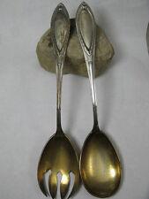 Jugendstil Salatbesteck 2-teilig 800 er Silber ~1900 - Deutsches Reich