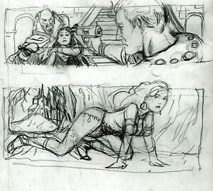 Flash Gordon  and Dejah Thoris PRELIM SKETCHES by Bo Hampton