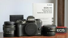 Canon EOS M5 24.2MP Digital Camera w/ 15-45mm IS Lens and Canon EF-M Adapter
