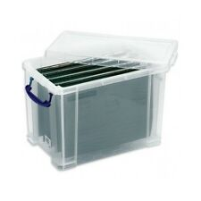 File A4 Plastic Box Organiser Solid Storage Documents Paper Jewellery Office 19L