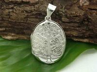 Lebensbaum 925 Silber Medaillon Anhänger Baum des Lebens Yggdrasil Kelten
