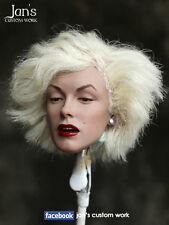 1/6 CUSTOM Marilyn Monroe hot toys figure head female phicen blitzway kumik dx