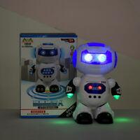 Kids Smart Electronic Walking Robot Dancing Music Lightening Rotating Toys Gifts