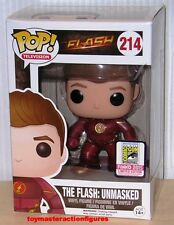 FUNKO POP 2015 SDCC EXC DC FLASH TV SERIES THE FLASH UNMASKED #214 In Stock
