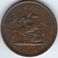 PROVINCE OF CANADA Breton 719 Courteau 217 1850 Penny Uncirculated Inv 3240