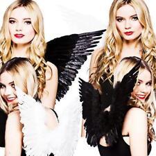 Feather Wings Black White Angel Fairy Kids Fancy Dress Costume Hot CB